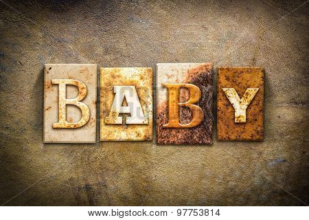 Baby Concept Letterpress Leather Theme