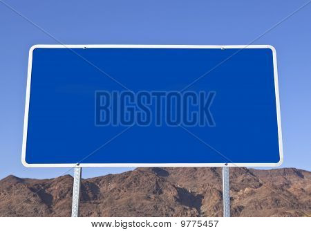 Big Blank Blue Sign