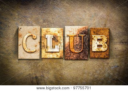 Club Concept Letterpress Leather Theme