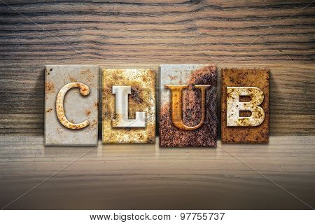 Club Concept Letterpress Theme