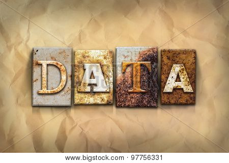 Data Concept Rusted Metal Type