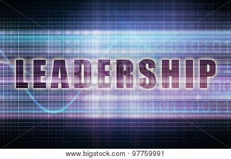 Leadership on a Tech Business Chart Art