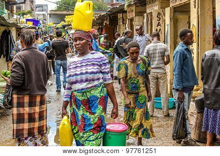 African woman at market