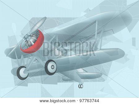 Biplane In The Sky