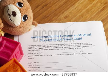 Medical Authorization Of Minor Child
