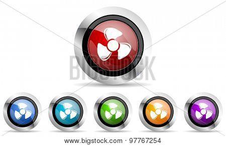 fan original modern design colorful icons set for web and mobile app on white background