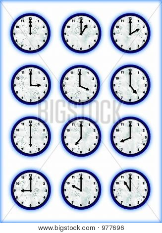 Clocks Aqua