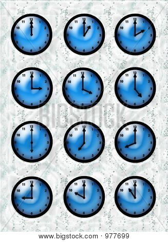 Clocks Blue