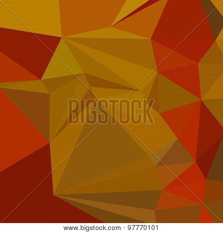 Tenne Tawny Orange Abstract Low Polygon Background