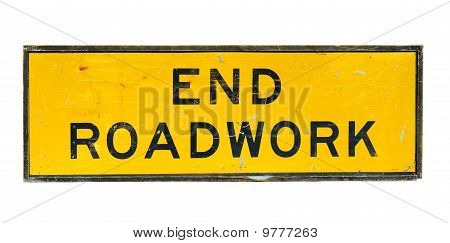 Old End Roadwork Traffic Sign