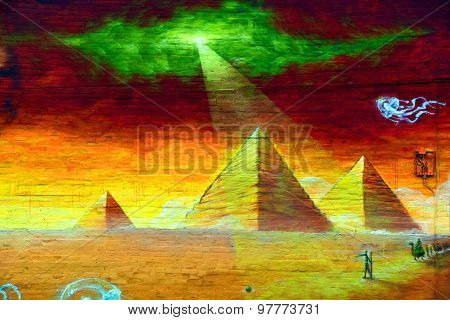 Street art Montreal pyramids