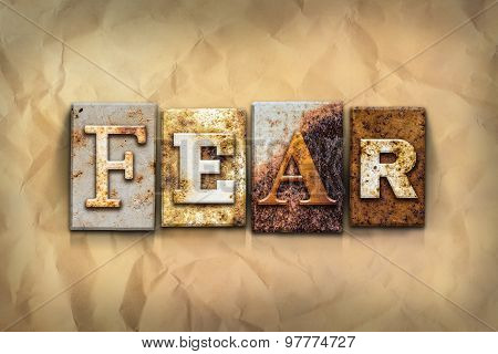 Fear Concept Rusted Metal Type