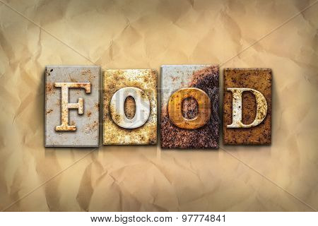 Food Concept Rusted Metal Type