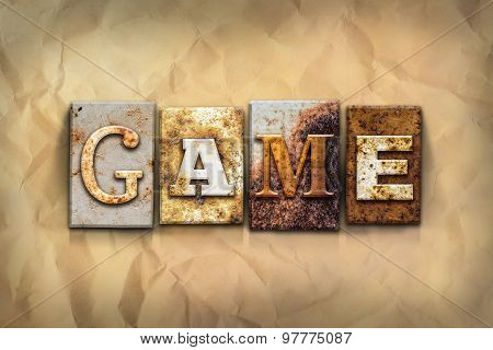 Game Concept Rusted Metal Type