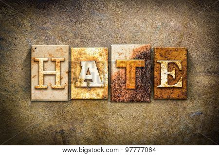 Hate Concept Letterpress Leather Theme