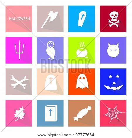Illustration Collection Of 16 Halloween Festival Icons