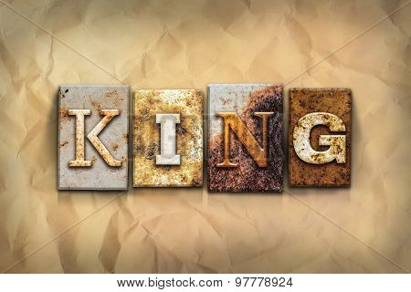 King Concept Rusted Metal Type