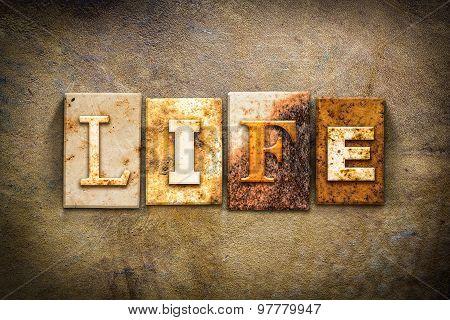 Life Concept Letterpress Leather Theme