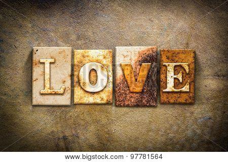 Love Concept Letterpress Leather Theme