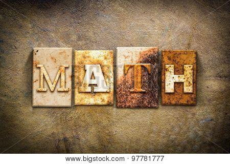 Math Concept Letterpress Leather Theme