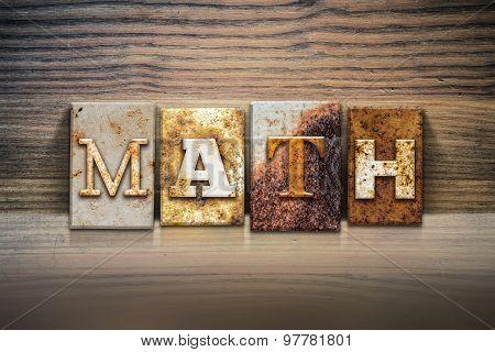 Math Concept Letterpress Theme