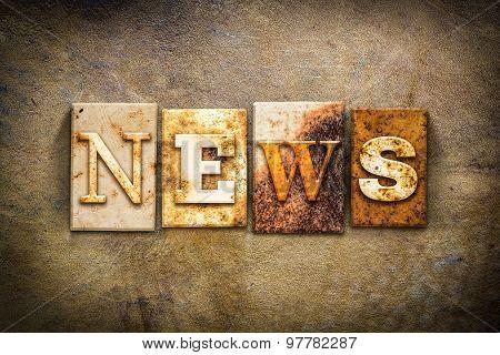 News Concept Letterpress Leather Theme
