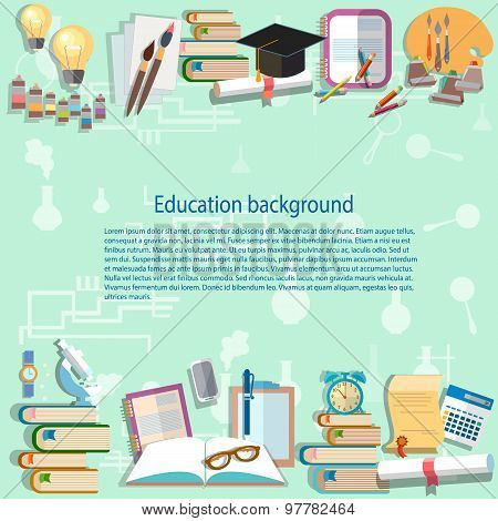 Education Background, Back To School University College, Institute, Learning, Student Desk