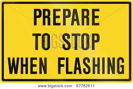 Prepare To Stop When Flashing In Canada