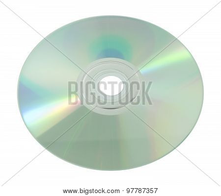 Blank Cd Or Dvd Isolated On White Background