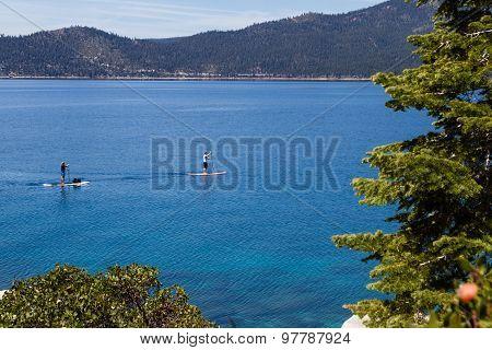 Paddle Boarding, Lake Tahoe