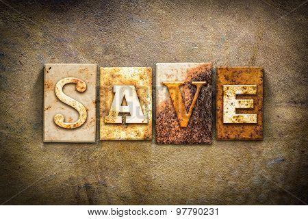 Save Concept Letterpress Leather Theme