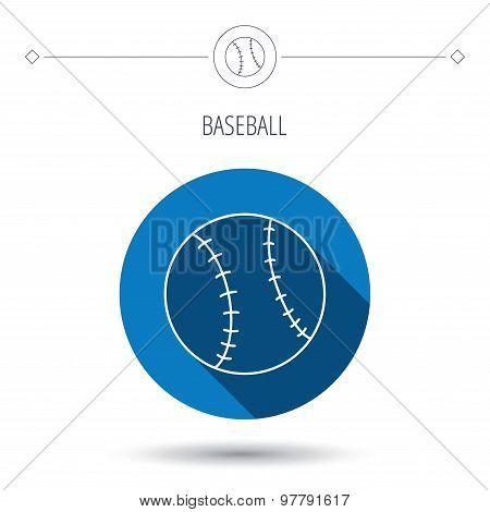 Baseball icon. Sport ball sign.