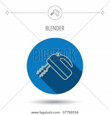 Blender icon. Mixer sign.