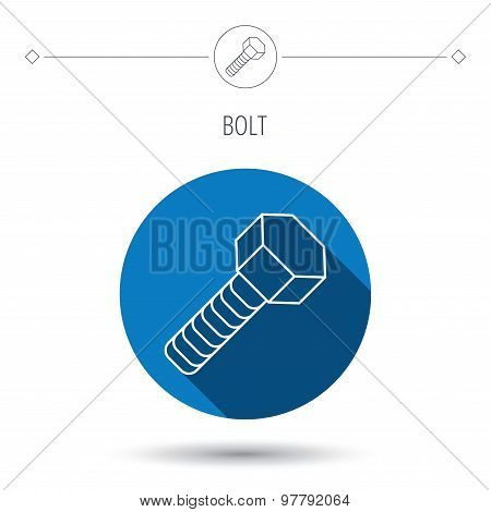 Screw icon. Bolt sign.