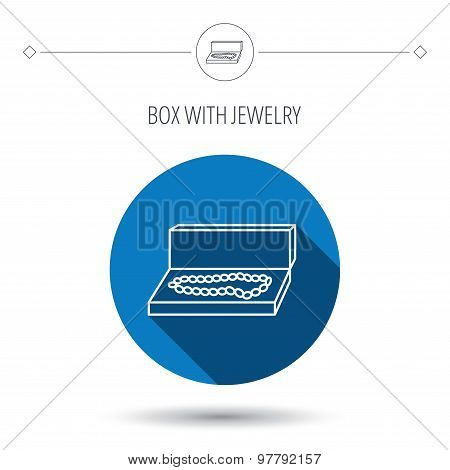 Jewellery box icon. Luxury precious sign.