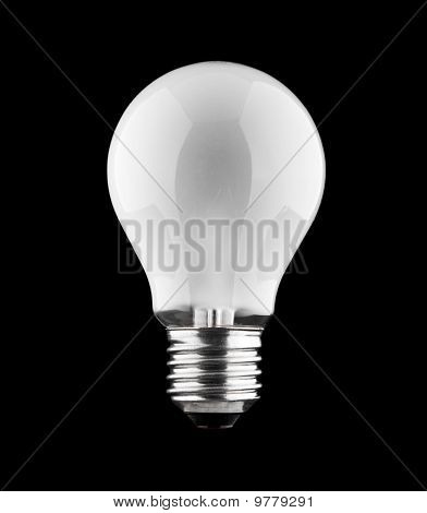 Frosted Light Bulb Isolated On Black