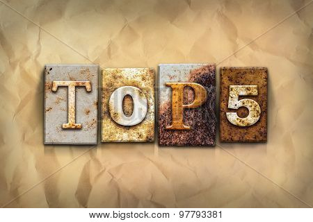 Top 5 Concept Rusted Metal Type