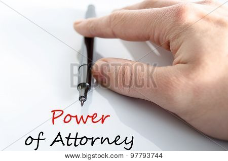 Power Of Attorney Text Concept