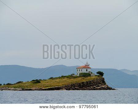 The Croatian Plocica lighthouse