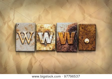 Www Concept Rusted Metal Type