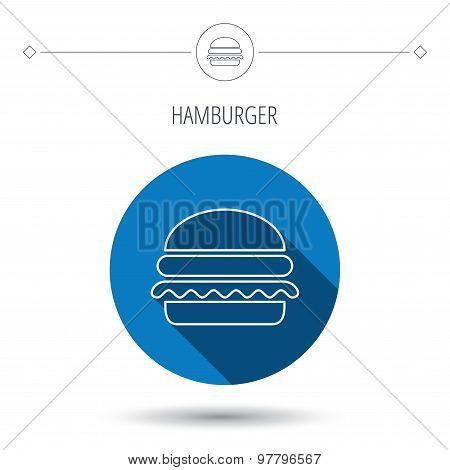 Hamburger icon. Fast food sign.