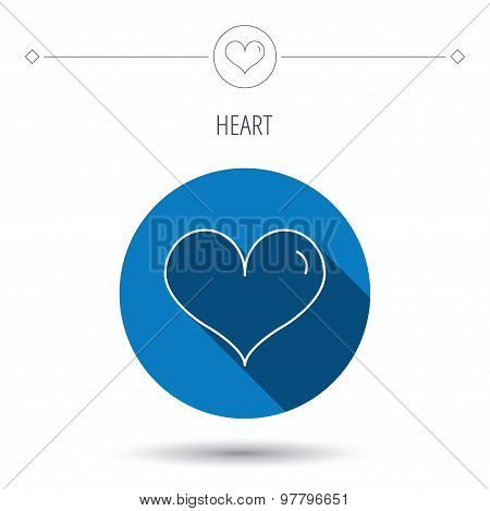 Heart icon. Love sign.