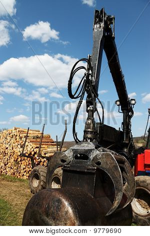 Hydraulic Arm and Claw Lumber Industry