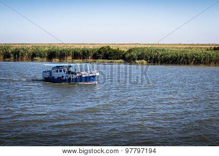 Boat On The Danube Delta
