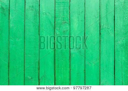 Emerald Green Wooden Background