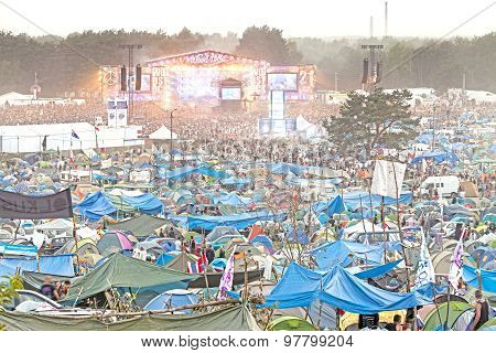 Evening View Of Concert On Main Stage.