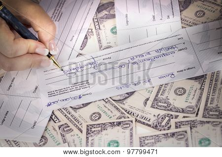partner signed a check