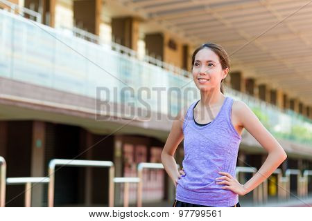 Sport woman at stadium