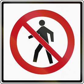 foto of traffic rules  - Canadian traffic sign  - JPG