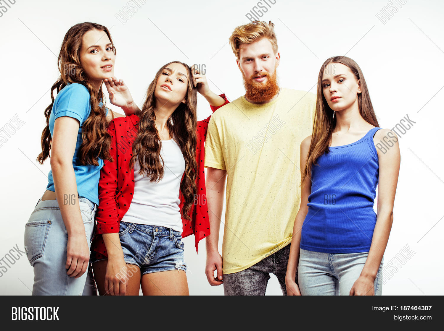 Image Et Photo De Company Hipster Guys Bearded Bigstock